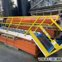 Steel stairs 12 steps width 600 mm