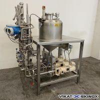 Fondoir inox 60 litres avec 3 pompes