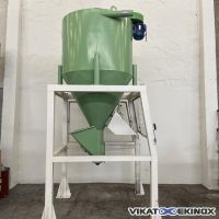 TOY steel mixer type MEL 2000 litres with central motorized screw