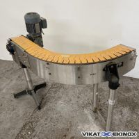 Plastic chain bend conveyor Length 1350 mm