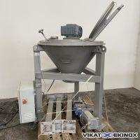 Mélangeur conique inox 100 litres PARIMIX type MDC 100