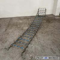 Extensible roll conveyor Length 3000 mm