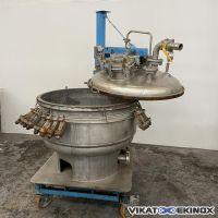 DE DIETRICH S/S single plate filter Ø 985 mm 530 litres double jacket