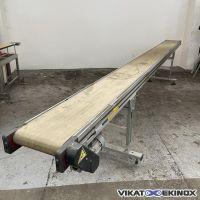 RO.MA belt conveyor type VRA Length 4970x width 300 mm