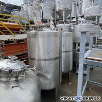 HOLVRIEKA NIROTA agitated S/S tank 1200 litres -1/+2 bar – S/S insulation