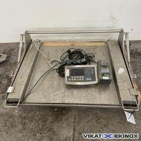 Plateforme de pesage inox 150 kg avec relevage SARTORIUS type IFS4-150II-L