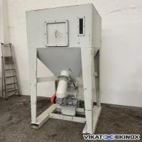 TIBI steel container 1650 litres with rotary valve