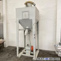 Steel container 1650 litres- big-bag dump station- TIBI type CTSS0020 with rotary valve