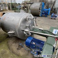 Mixer disperser 55 kw – 2500 litres total