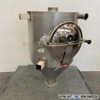 Stainless steel hopper 200 litres