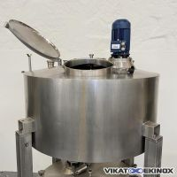 S/S mixing tank 850 litres with double jacket and insulation